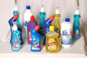 Range of cleaning detergents
