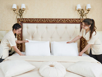 Housekeeping chores in hotels