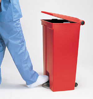 foot operated bin